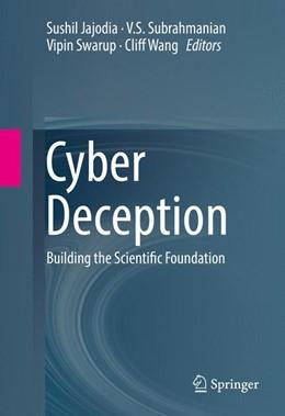 Abbildung von Jajodia / Subrahmanian | Cyber Deception | 1. Auflage | 2016 | beck-shop.de