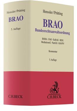 Abbildung von Henssler / Prütting | Bundesrechtsanwaltsordnung: BRAO | 5. Auflage | 2019 | beck-shop.de