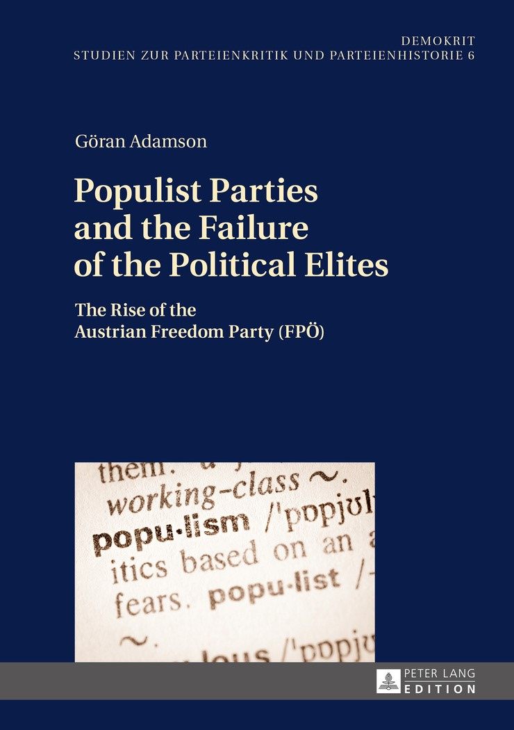 Populist Parties and the Failure of the Political Elites | Adamson, 2016 | Buch (Cover)