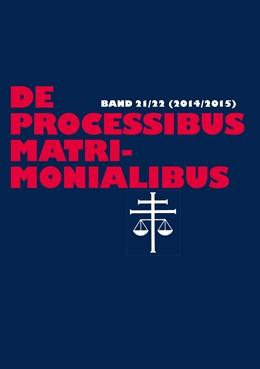 Abbildung von Güthoff / Selge   De processibus matrimonialibus   1. Auflage   2016   22   beck-shop.de