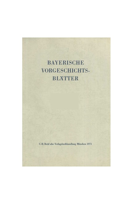 Cover: , Bayerische Vorgeschichtsblätter 2016