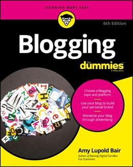 Abbildung von Bair | Blogging For Dummies | 2016