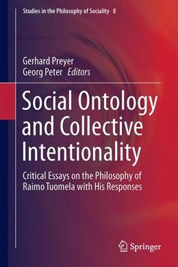 Abbildung von Preyer / Peter | Social Ontology and Collective Intentionality | 1. Auflage | 2016 | 8 | beck-shop.de
