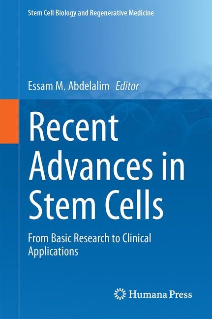 Recent Advances in Stem Cells | Abdelalim | 1st ed. 2016, 2016 | Buch (Cover)