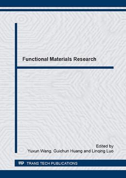 Abbildung von Wang / Huang   Functional Materials Research   1. Auflage   2016   Volume 852   beck-shop.de