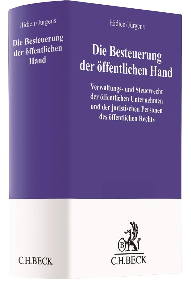 Die Besteuerung der öffentlichen Hand   Hidien / Jürgens, 2017   Buch (Cover)