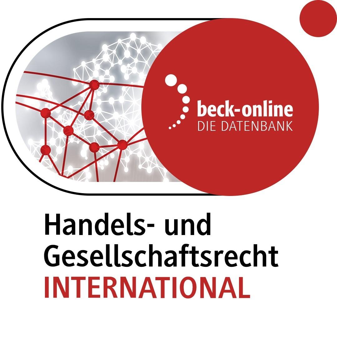 Abbildung von beck-online. Handels- und Gesellschaftsrecht INTERNATIONAL