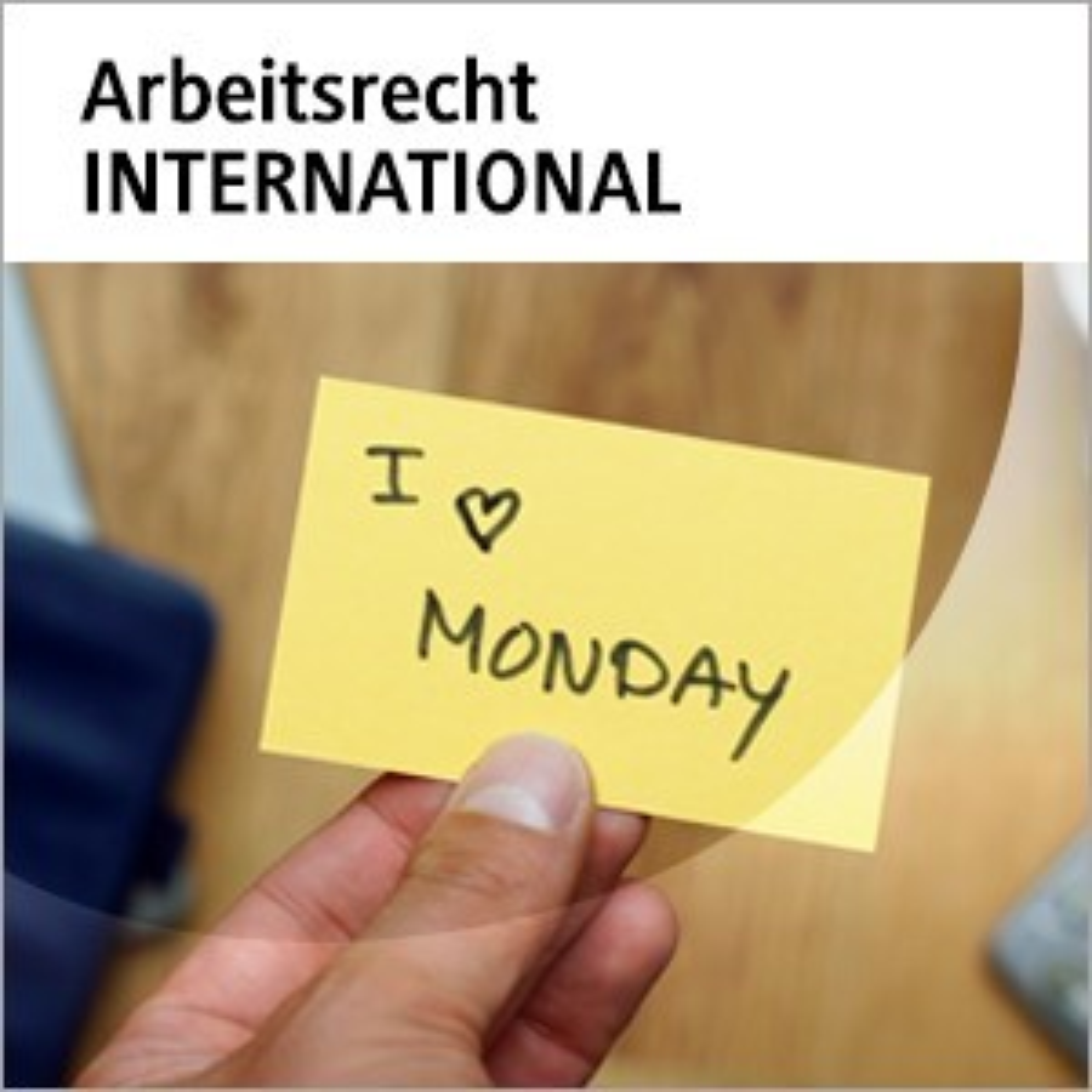 beck-online. Arbeitsrecht INTERNATIONAL, 2016 (Cover)