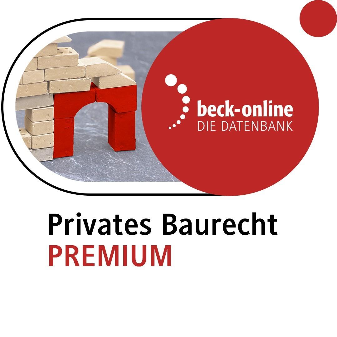 Abbildung von beck-online. Privates Baurecht PREMIUM