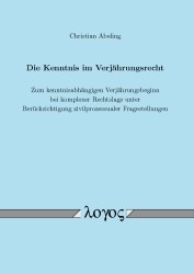 Die Kenntnis im Verjährungsrecht   Abeling, 2016   Buch (Cover)