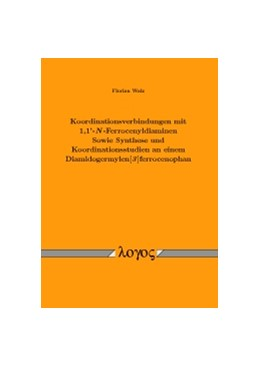 Abbildung von Walz | Koordinationsverbindungen mit 1,1'-N-Ferrocenyldiaminen Sowie Synthese und Koordinationsstudien an einem Diamidogermylen[3]ferrocenophan | 1. Auflage | 2016 | beck-shop.de