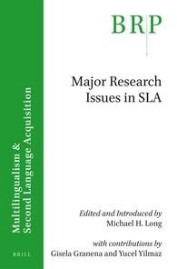 Abbildung von Long / Granena / Yilmaz | Major research issues in SLA | viii, 86 pp. | 2016