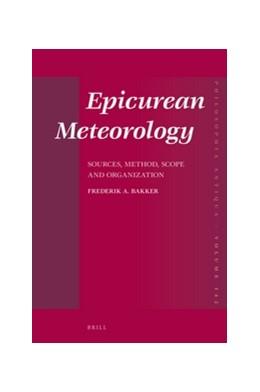 Abbildung von Bakker | Epicurean Meteorology | 2016