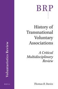 Abbildung von Davies | History of Transnational Voluntary Associations | 2016