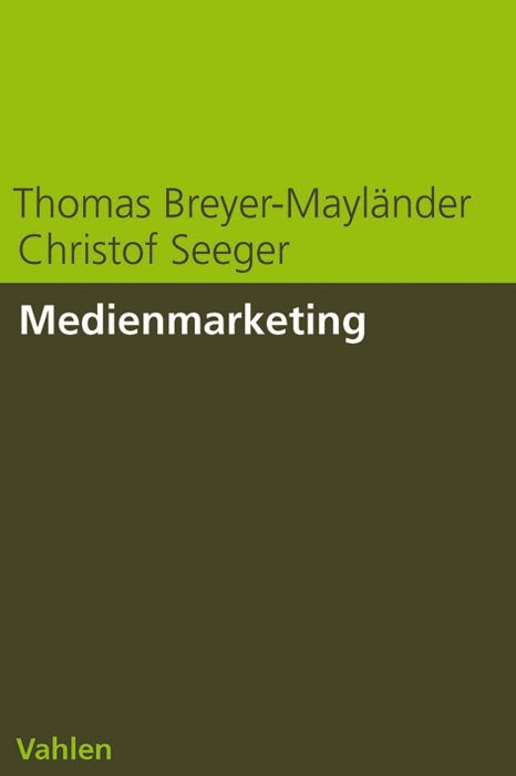 Medienmarketing | Breyer-Mayländer / Seeger, 2006 | Buch (Cover)