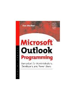 Abbildung von Mosher   Microsoft Outlook Programming   2002   Jumpstart for Administrators, ...