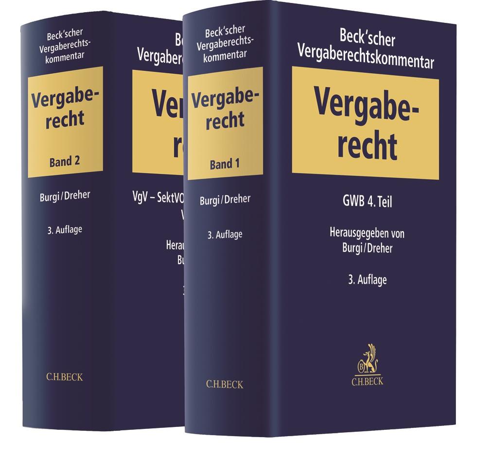 Beck'scher Vergaberechtskommentar - Zweibändige Ausgabe | 3. Auflage, 2018 | Buch (Cover)