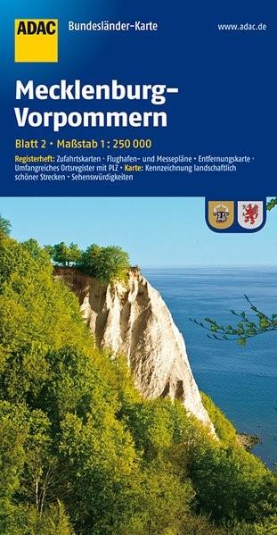 ADAC BundesländerKarte Deutschland 02. Mecklenburg-Vorpommern 1 : 250 000 | 3. Auflage, 2016 (Cover)