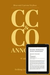 Code civil suisse et Code des obligations annotés (CC & CO)   Braconi / Carron / Scyboz   9ième édition 2012, 2012   Buch (Cover)