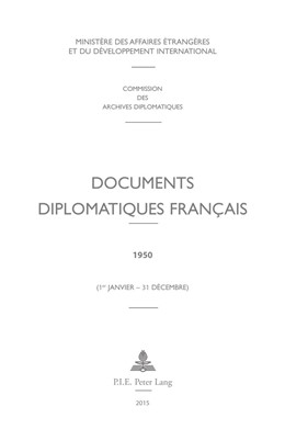 Abbildung von Documents diplomatiques français   2015   1950 (1er janvier – 31 décembr...   15