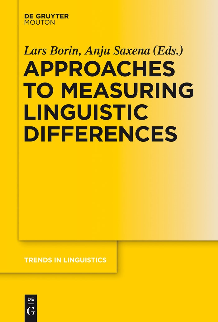 Approaches to Measuring Linguistic Differences | Borin / Saxena, 2016 | Buch (Cover)