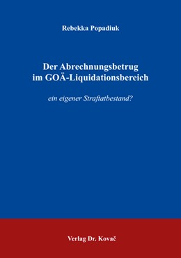 Abbildung von Popadiuk | Der Abrechnungsbetrug im GOÄ-Liquidationsbereich | 1. Auflage | 2016 | 332 | beck-shop.de