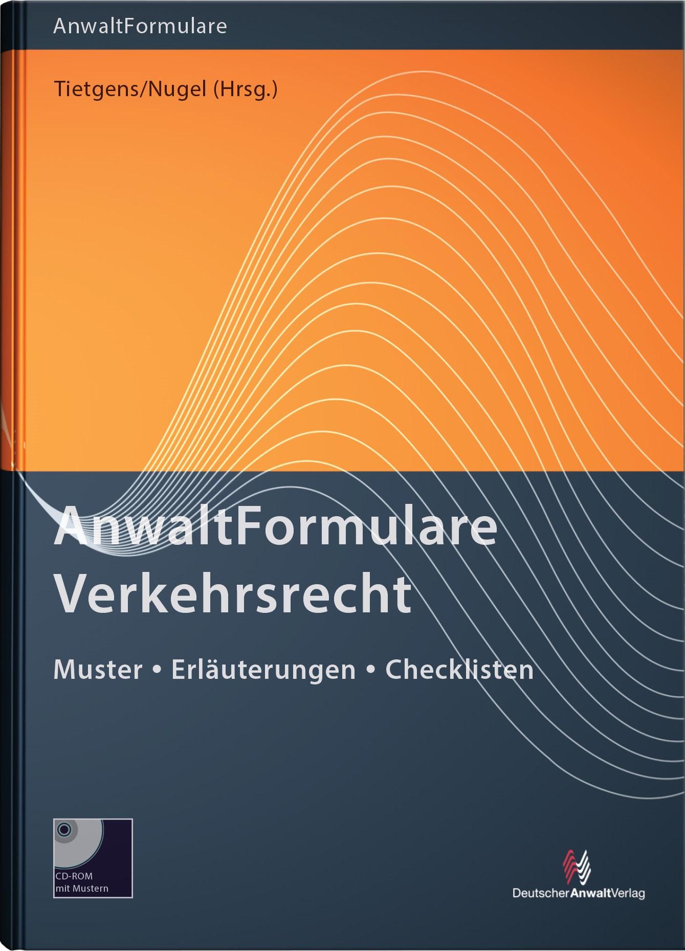 AnwaltFormulare Verkehrsrecht | Tietgens / Nugel (Hrsg.) | 7. Auflage, 2016 | Buch (Cover)