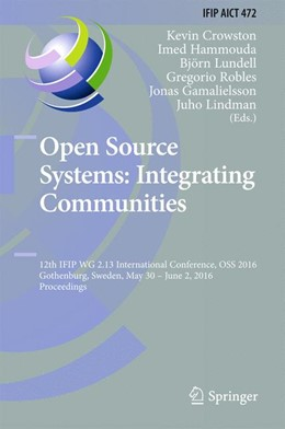 Abbildung von Crowston / Hammouda | Open Source Systems: Integrating Communities | 1. Auflage | 2016 | 472 | beck-shop.de