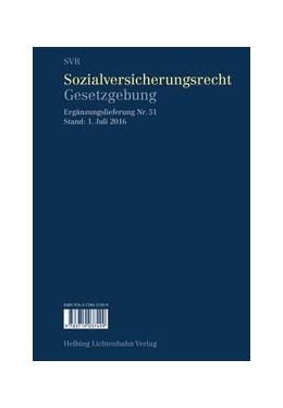 Abbildung von Imhof | Sozialversicherungsrecht - Gesetzgebung EL 51 | 1. Auflage | 2016 | 51 | beck-shop.de