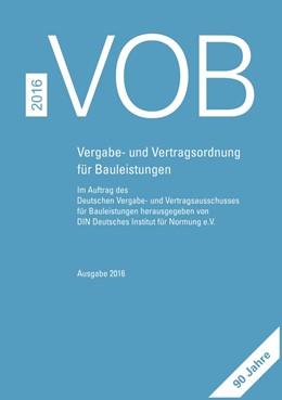 Abbildung von DIN e.V. / DVA | VOB 2016 • Gesamtausgabe | 1. Auflage | 2016 | beck-shop.de