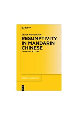 Abbildung von Pan   Resumptivity in Mandarin Chinese   1. Auflage   2016   beck-shop.de