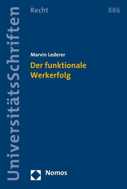 Der funktionale Werkerfolg | Lederer, 2016 (Cover)