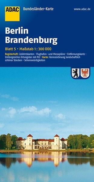 ADAC BundesländerKarte Deutschland 05. Berlin / Brandenburg 1 : 300 000 | 4. Auflage, 2016 (Cover)