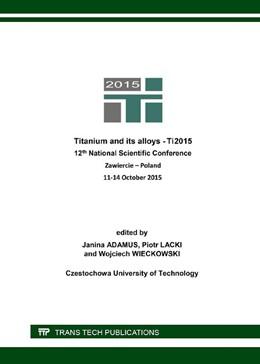 Abbildung von Adamus / Lacki / Wieckowski | Titanium and its Alloys | 2016
