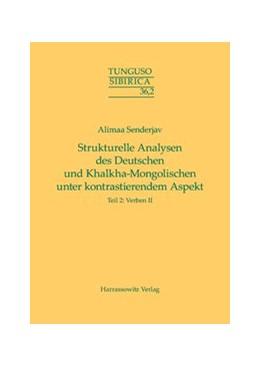 Abbildung von Senderjav | Strukturelle Analysen des Deutschen und Khalkha-Mongolischen unter kontrastierendem Aspekt | 1. Auflage | 2016 | beck-shop.de
