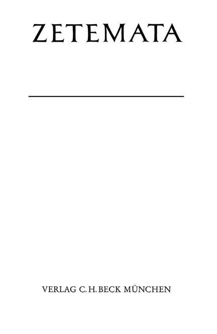 Cover: Klaus Schickert, Die Form der Widerlegung beim frühen Aristoteles