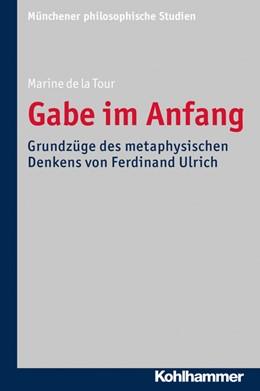 Abbildung von de la Tour   Gabe im Anfang   1. Auflage   2016   32   beck-shop.de