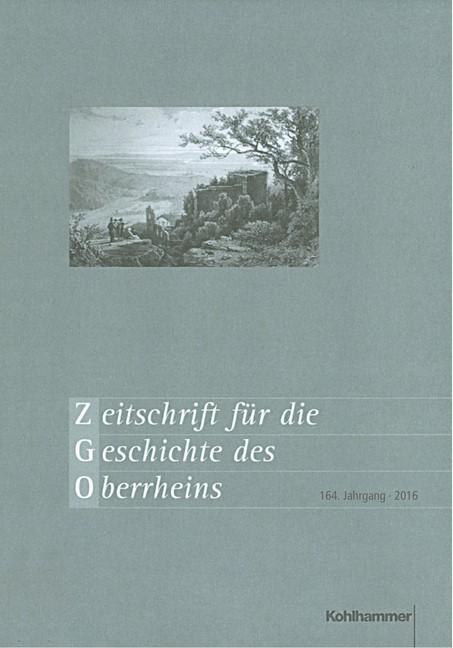 Zeitschrift für die Geschichte des Oberrheins, 2017 | Buch (Cover)