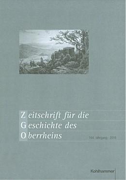 Abbildung von Zimmermann | Zeitschrift für die Geschichte des Oberrheins | 2017 | 164. Jahrgang (2016) | 164