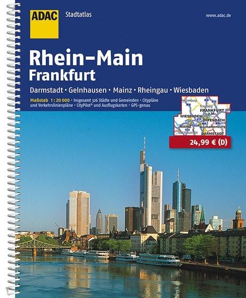 ADAC Städte- und Gemeindeatlas Rhein-Main / Frankfurt 1 : 20 000   11. Auflage, 2016   Buch (Cover)
