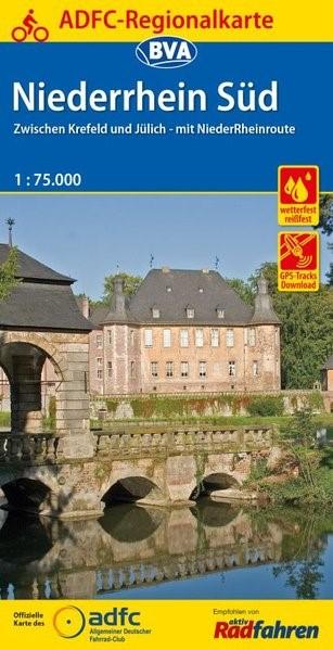 Abbildung von ADFC-Regionalkarte Niederrhein Süd 1:75.000, reiß- und wetterfest, GPS-Tracks Download | 5. Auflage | 2016