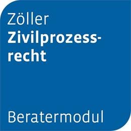 Abbildung von Beratermodul Otto Schmidt Zöller Zivilprozessrecht   1. Auflage     beck-shop.de