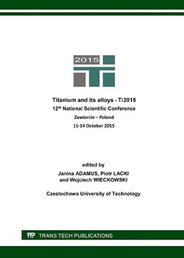 Abbildung von Adamus / Lacki | Titanium and its Alloys | 1. Auflage | 2016 | Volume 687 | beck-shop.de