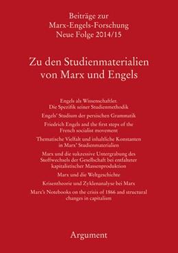 Abbildung von Hecker / Sperl | Zu den Studienmaterialien von Marx und Engels | 1. Auflage | 2016 | beck-shop.de