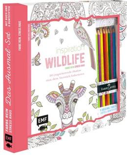 Abbildung von Kreativ-Set Farbe rein, Stress raus: Inspiration Wildlife - 50 inspirierende Motive aus dem Tierreich kolorien | 1. Auflage | 2016 | beck-shop.de