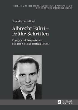 Abbildung von Egyptien   Albrecht Fabri – Frühe Schriften   1. Auflage   2016   27   beck-shop.de