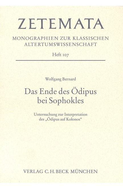 Cover: Wolfgang Bernard, Das Ende des Ödipus bei Sophokles