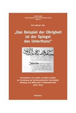Abbildung von Hipfinger | »Das Beispiel der Obrigkeit ist der Spiegel des Unterthans« | 1. Auflage | 2016 | beck-shop.de