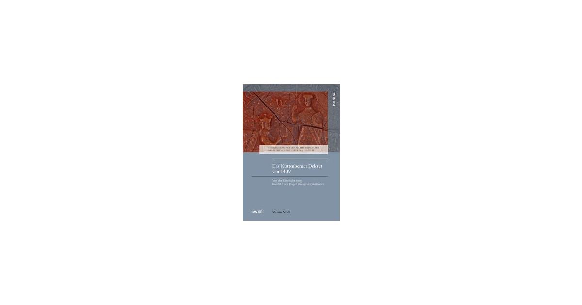 Das Kuttenberger Dekret von 1409   Nodl, 2017   Buch   beck-shop.de