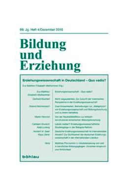 Abbildung von Meilhammer / Matthes   Erziehungswissenschaft in Deutschland - Quo vadis?   2017   69,4